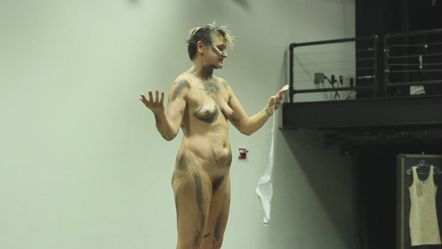 Mature naked on stage